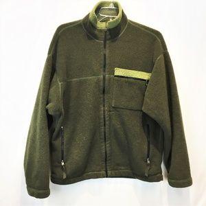 PATAGONIA Fleece Zip Jacket Men Large Green